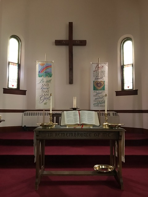 Altar and banners